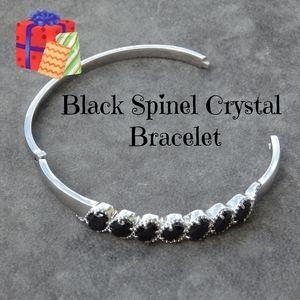 Jewelry - Black spinel crystal bangle bracelet
